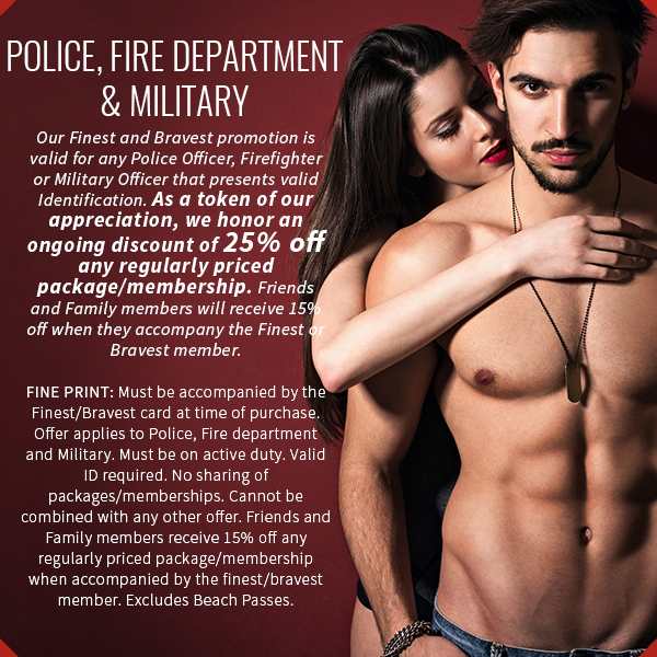 police, fire department and military discount